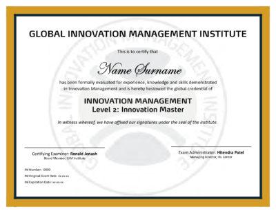 Level 1 Certificate - Global Innovation Management Institute