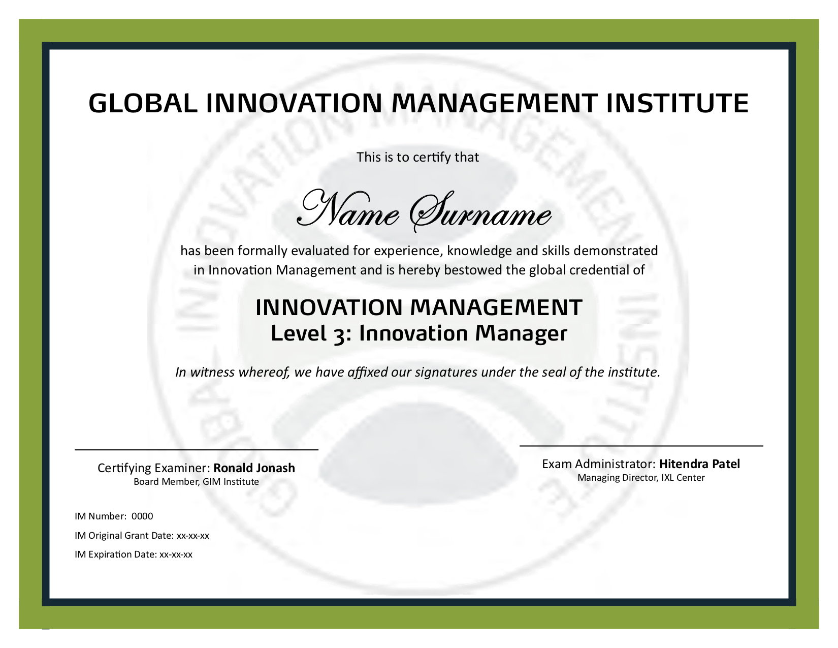 Manager (Level 3) Certification