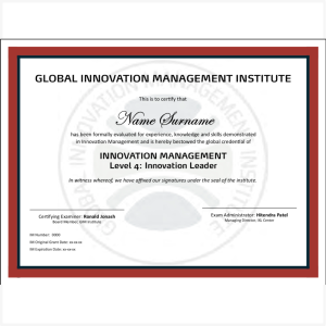 Certified Innovation Leader