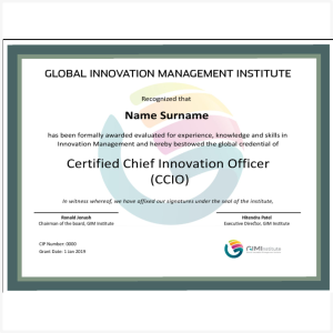 Certified Chief Innovation Officer