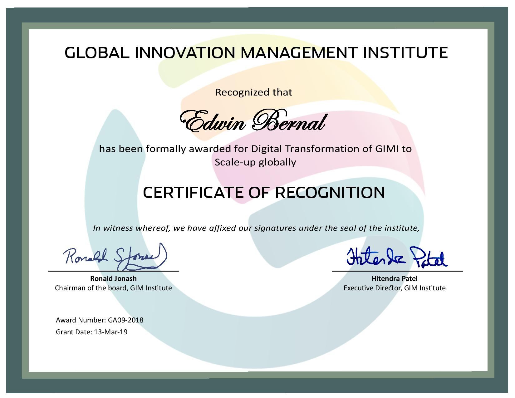 for Digital Transformation of GIMI to Scale-up globally