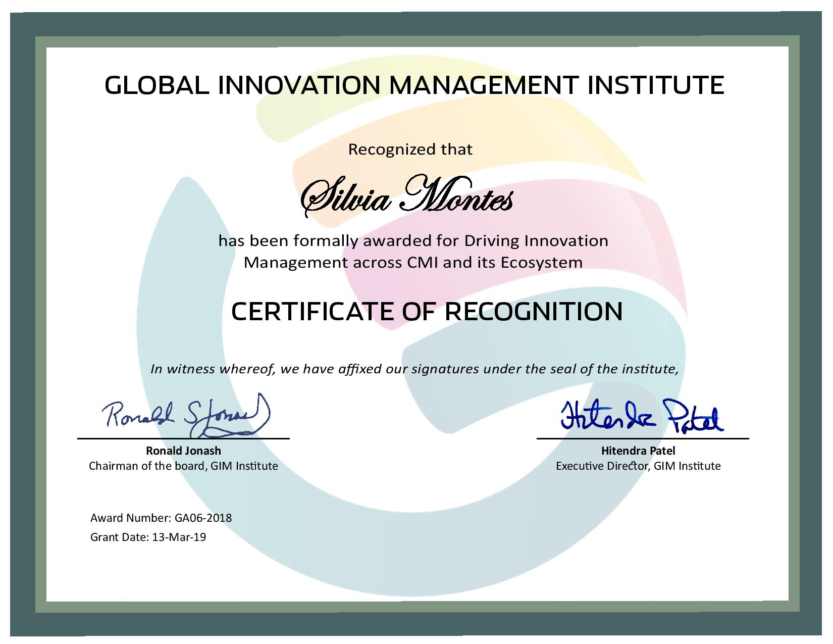 for Driving Innovation Management across CMI and its Ecosystem