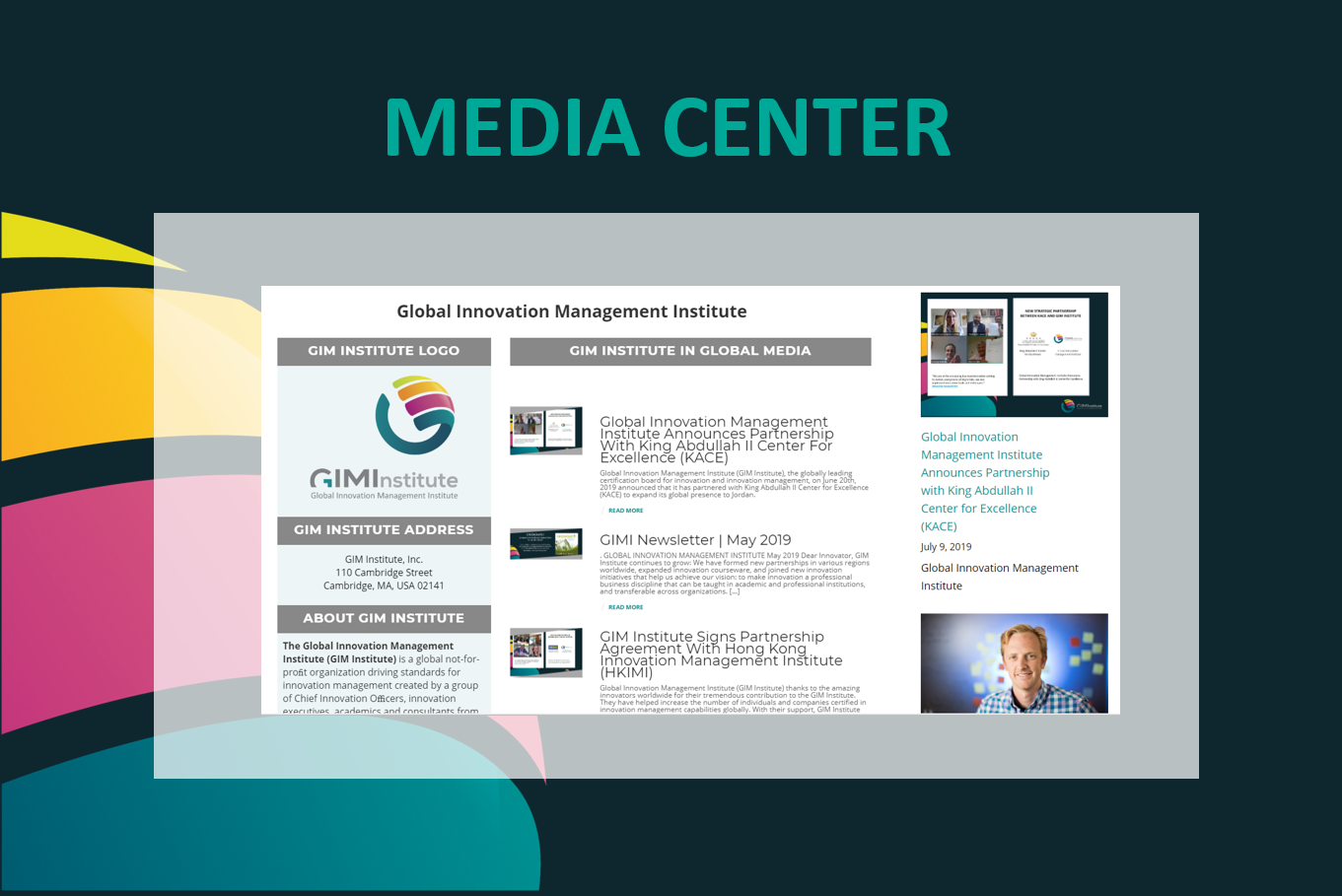 GIMI Media Center Innovation Certification